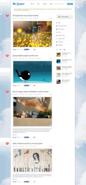 Me Gusta! Шаблон сайта для размещения пользователями своего контента.